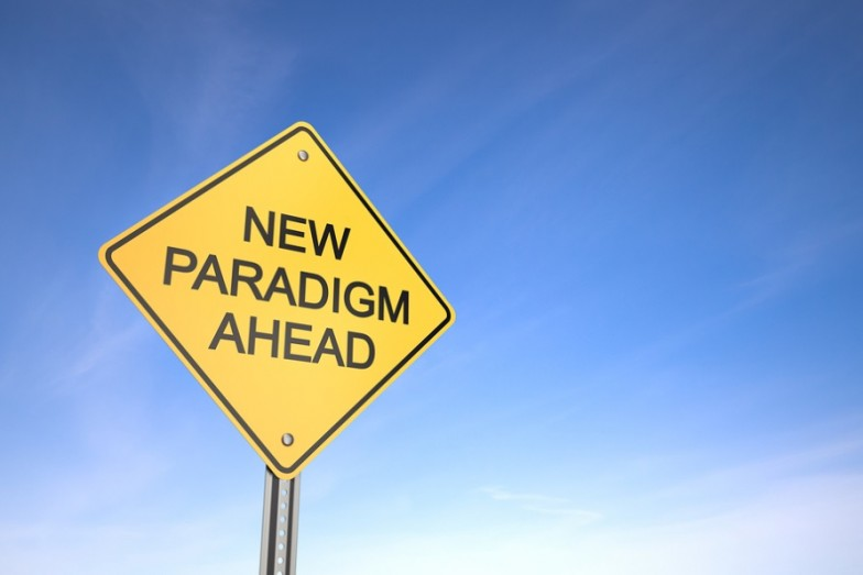 'New Paradigm Ahead' sign