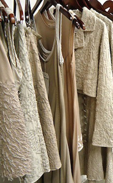 clothes by Alabama Chanin on a rack
